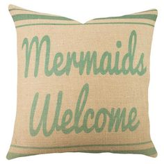 Mermaid pillow. Get it here! http://www.luvocracy.com/erinmarshall/recommendations/sail-the-seas-on-joss-main