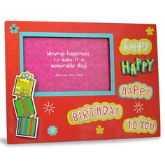 Photo frame for birthday Happy Happy Happy Birthday To you… Shop Now : Rs. 474 : Height : 19 cm X Length : 25 cm X width : 1 cm. : https://hallmarkcards.co.in/collections/shop-all/products/photo-frame-for-birthday