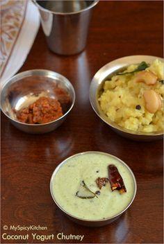 Cooking from Cookbook, CCChallenge, Coconut Chutney, Coconut curd chutney, coconut yogurt chutney, thenghai thayir pachadi, kobarri perugu pachadi, tamil food, South Indian Food, Tamil Cuisine,