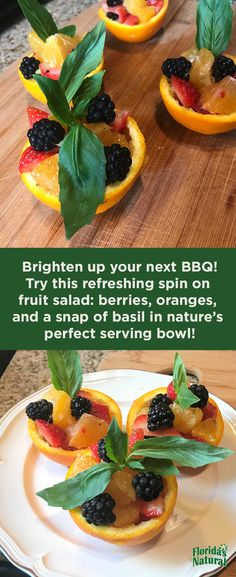 Try these deliciously decorative cups at your next summer get-together! All you need is a few oranges to get the party started.