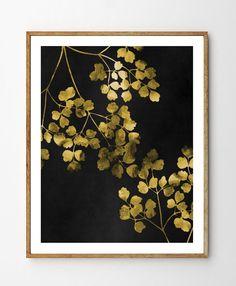 Gouden takken - bloemsierkunst, botanische afdrukken, afdrukken, botanische Poster, bosrijke kwekerij, aquarel bloemen, Forest Print, blad natuur kunst door StellaireStudio op Etsy https://www.etsy.com/nl/listing/243693961/gouden-takken-bloemsierkunst-botanische