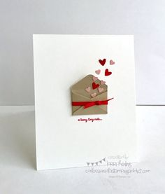 Lorri Heiling Sealed with Love Bundle Valentine Stampin Up CASE of Krystie Lee's card