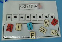 Escribimos nuestro nombre 3 Year Old Activities, Name Activities, Autism Activities, Classroom Activities, Toddler Activities, Letters For Kids, Preschool Letters, Preschool Activities, Daycare Curriculum