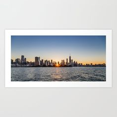 Chicago Skyline from Lake Michigan Art Print by