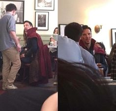 Remember that time when Benedict went to the restaurant still dressed up as Doctor Strange?