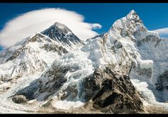 Mount Everest. Wishing and hoping that someday I can leave my footprints on this majestic mountain.