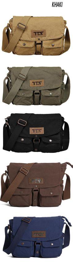 Men/'s Vintage Canvas Satchel Shoulder Bag Messenger Crossbody Handbag Tote WL