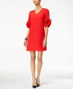 Alfani Ruffle-Sleeve A-Line Dress, Created for Macy's    macys.com