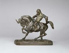 Artist: Antoine-Louis Barye Title: Ape Riding a Gnu Date: c. 1845 Location: Hirshhorn Museum and Sculpture Garden