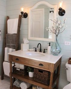 Love The Ladder In The Bathroom Https://www.facebook.com/Homegoods/photos/a .216779765516.281359.135249540516/10155136494155517/?typeu003d1