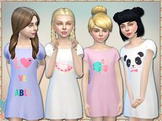 Loveable Nightgown For Girls by Simlark at TSR via Sims 4 Updates