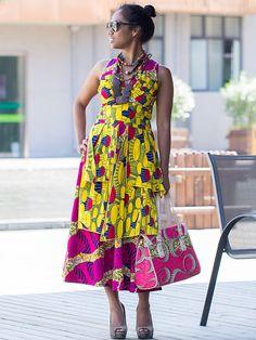 Sleeveless Dress Design Wax Print. #Africanfashion #AfricanWeddings #Africanprints #Ethnicprints #Africanwomen #africanTradition #AfricanArt #AfricanStyle #AfricanBeads #Gele #Kente #Ankara #Nigerianfashion #Ghanaianfashion #Kenyanfashion #Burundifashion #senegalesefashion #Swahilifashion DK