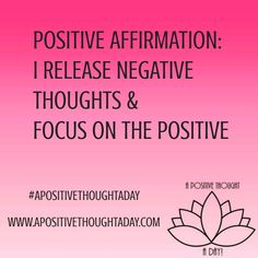 I release negative thoughts & #focus on #positive ☀️☀️ Start your morning off by repeating this affirmation & repeat when you feel yourself focusing on anything that's not positive. ☮✌ if you want your own personalized affirmations for any area of your li http://www.loapowers.net/develop-a-burning-desire-for-having-more-money/