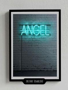 Signal Neon No Angel Poster Beyonce Licht dekorative von ArteRKL