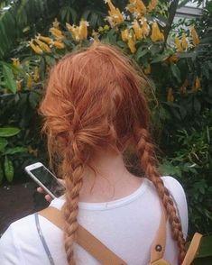 """Képtalálat a következőre: """"redhead aesthetic"""" Hair Inspo, Hair Inspiration, Bright Red Hair, Pastel Red, Aesthetic Hair, Aesthetic Plants, Nature Aesthetic, Aesthetic Grunge, Jolie Photo"""
