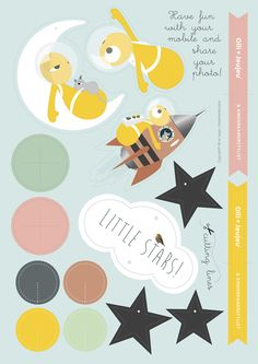 "NEW free download ""baby-mobile"" by olli-en-jeujeu designed for Kinderkamerstylist.nl"