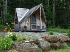 """Domenic Mangano's cabin called """"The Writer's Haven"""". It usually comes in two sizes, 12' by 14', and 12' by 18', so its actually bigger than it looks. Domenic runs the company www.JamaicaCottageShop.com"""