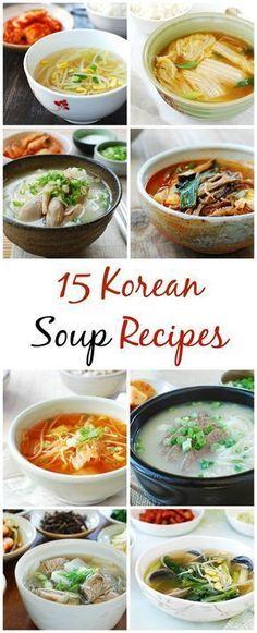 15 Korean Soup Recipes - Korean Bapsang - The Best Asian Recipes Korean Soup Recipes, Asian Recipes, Healthy Recipes, Ethnic Recipes, Healthy Food, Korean Beef Soup Recipe, Kimchi Soup Recipe, Cheap Recipes, Japanese Recipes