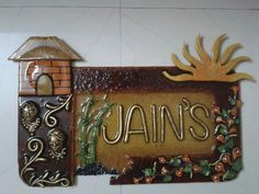 1000 images about name plates on pinterest nameplate for Mural name plate designs