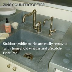 Zinc Care And Maintenance Instructions. Guidelines For Day To Day Cleaning  And In Depth Maintenance For Brooks Customu0027s Zinc Countertops.