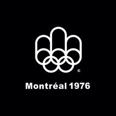 Montreal 1976 by Georges Huel. #logo #branding #design