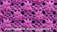 punto jazmin a crochet - YouTube