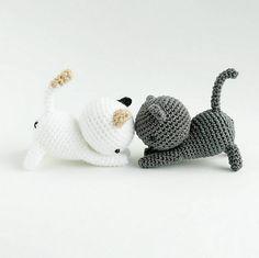 Ravelry: Neko Atsume: playing cat pattern by J.A. Poolvos