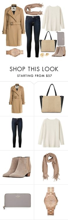 """Untitled #4824"" by prettyorchid22 ❤ liked on Polyvore featuring Burberry, Frame Denim, Toast, Golden Goose, Kate Spade and Marc by Marc Jacobs"