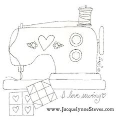 Free Sewing Machine Embroidery Pattern by Jacquelynne Steves