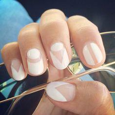 """White nails , nails Spring 2015, #oliveyourstyle #pinterest @pinterestfavs #regram #OJnails #manispiration…"""