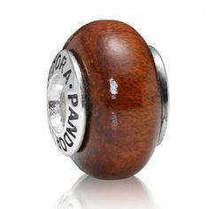 LY4023 Pandora Muirapiranga Wood Charm