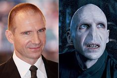 Ralph Fiennes/Voldemort | The 16 Best Special Effects Makeup Before AndAfters