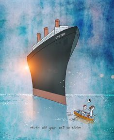 'Never sell your sail to them'. Couple Illustration, Digital Illustration, Imagination Art, Apocalypse Art, Art Prints Quotes, Art For Art Sake, Whimsical Art, Anime Art Girl, Love Art