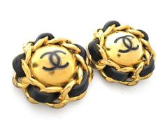 CHANEL Circle Chain COCO Clip Earrings Metal/Leather. Get the lowest price on CHANEL Circle Chain COCO Clip Earrings Metal/Leather and other fabulous designer clothing and accessories! Shop Tradesy now