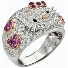 @Kiara Brown and @Jennifer Lewis Diamond studded Pink kitty wedding ring.  Too much? Are u Serious?? !!!
