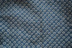 Vintage Japanese Kimono Fabric - Blue Shibori