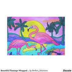 Decorate your walls with Tropical canvas prints from Zazzle! Choose from thousands of great wrapped canvas to beautify your home or office. Canvas Art Prints, Canvas Canvas, Wrapped Canvas, Flamingo, Tropical, Kids Rugs, Artwork, Poster, Beautiful