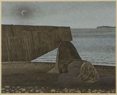 New Moon by Alex Colville on Curiator, the world's biggest collaborative art collection. Alex Colville, Canadian Painters, Canadian Artists, New Artists, Tate Gallery, Magic Realism, Digital Museum, Galleries In London, Collaborative Art
