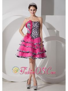 Sweet Zebra Print Strapless Short Prom Dress Mini-length- $116.25  www.fashionos.com  junior prom party dress | custom made prom formal dress | sexy prom evening dress | cheap prom cocktail dress | 2013 prom dress | plus size prom homecoming dress | prom dresses house wu | free shipping and best service |