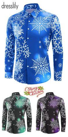 Men's Shirts   Casual, Formal & Designer Shirts. #dresslily #menshirt #snow #Christmas