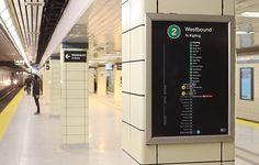 TTC installs new signage at Bloor-Yonge Station