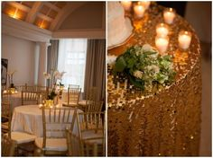 use specialty linens in places of interest for a glamorous effect without spending a fortune!