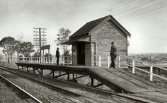 Menangle Railway Station in the MaCarthur region of New South Wales (year unknown). 🚉