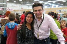 Au Salon du Livre de l'Estrie avec Michel Jean :)