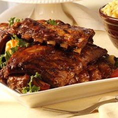 HAPPY FATHER'S DAY RECIPES ...♡♡♡ Ribs with a Kick Recipe ~ INGREDIENTS:   Medium onions - Butter - Garlic cloves - Brown sugar - Water - Spicy ketchup - White vinegar - Worcestershire sauce - Liquid Smoke - Ground mustard - Chili powder - Paprika - Cayenne pepper - Salt - Onion salt - Garlic salt - Pepper - Pork baby back ribs