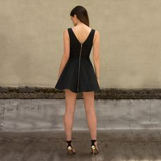 Fab.com | Geo Cut Out Dress Black
