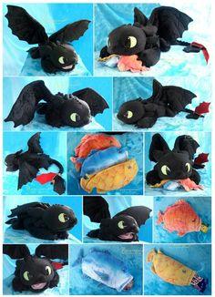 Toothless plush http://piquipauparro.deviantart.com/