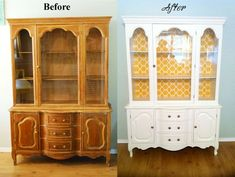 I usually don't pin my own stuff but darnit! this hutch turned out so cute and makes me so happy !  And the price, eek!