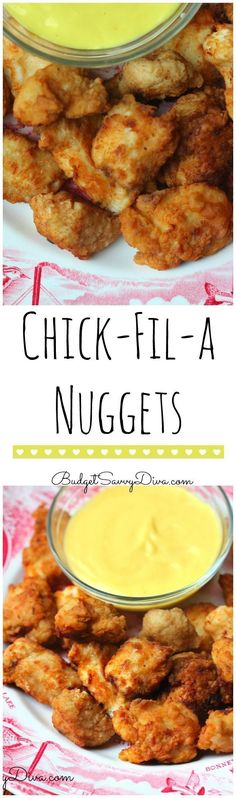Copy Cat Chick Fil A Nuggets from Budget Savvy Diva and other great family friendly dinner recipes! Copy Cat Chick Fil A Nuggets from Budget Savvy Diva and other great family friendly dinner recipes! Copycat Recipes, New Recipes, Dinner Recipes, Cooking Recipes, Favorite Recipes, Healthy Recipes, Family Recipes, Fondue Recipes, Snacks