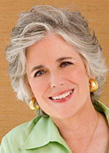 Gray hair, lovely hi lights , lovely makeup
